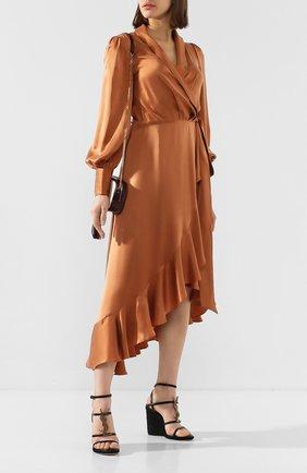 Женские кожаные босоножки espadrille SAINT LAURENT черного цвета, арт. 557208/0MUTT | Фото 2