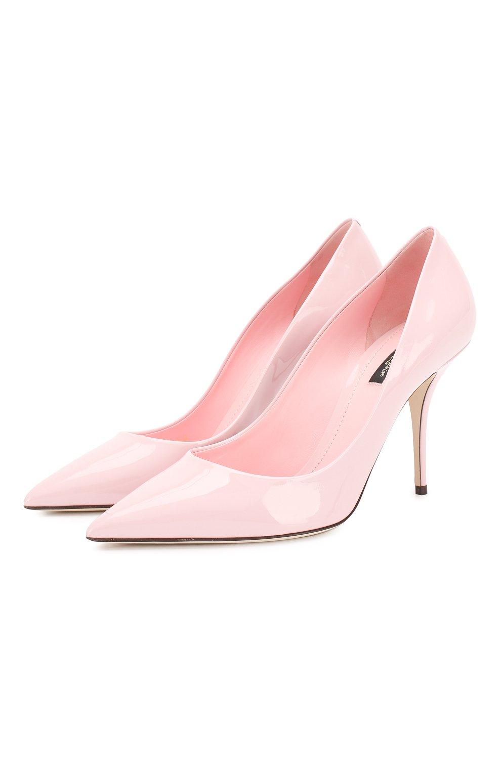 Женские кожаные туфли cardinale DOLCE & GABBANA светло-розового цвета, арт. CD1495/A1471 | Фото 1