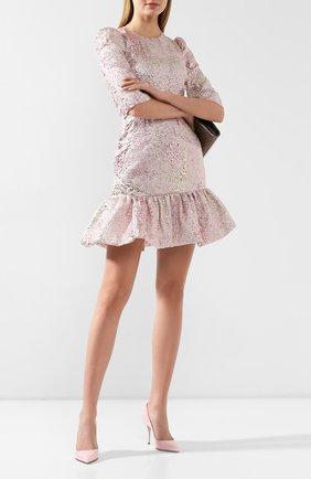 Женская кожаные туфли cardinale DOLCE & GABBANA светло-розового цвета, арт. CD1495/A1471 | Фото 2