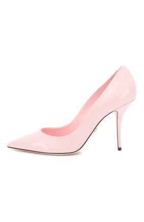 Женские кожаные туфли cardinale DOLCE & GABBANA светло-розового цвета, арт. CD1495/A1471 | Фото 3