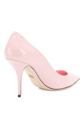 Женские кожаные туфли cardinale DOLCE & GABBANA светло-розового цвета, арт. CD1495/A1471 | Фото 4