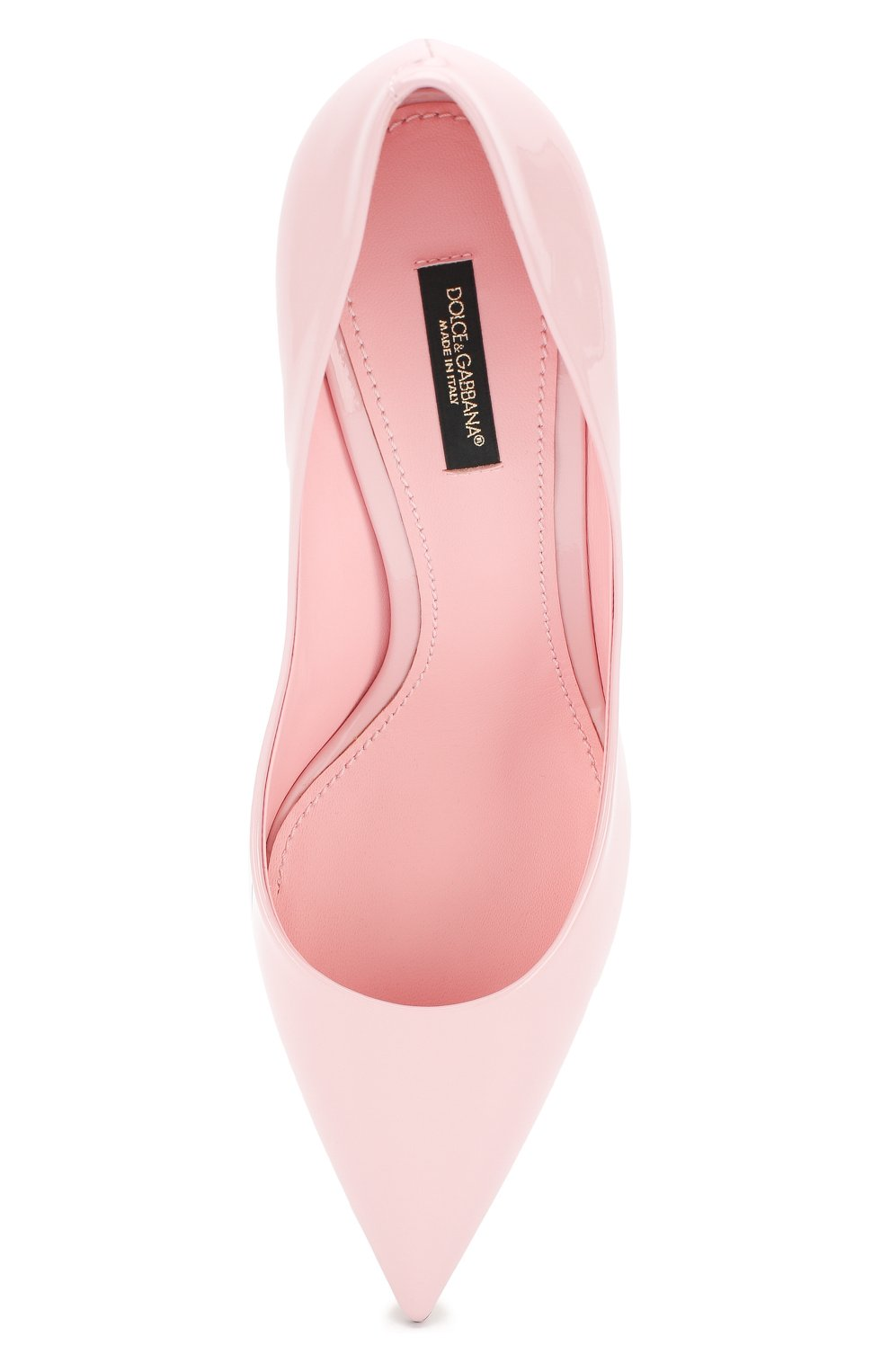 Женские кожаные туфли cardinale DOLCE & GABBANA светло-розового цвета, арт. CD1495/A1471 | Фото 5