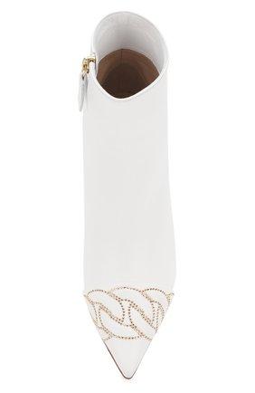 Женские кожаные ботильоны CASADEI белого цвета, арт. 1Q000P0601C04619999 | Фото 5