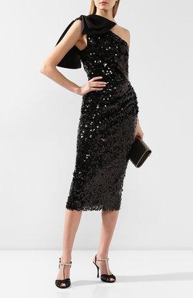 Женские текстильные босоножки bette DOLCE & GABBANA черного цвета, арт. CR0963/A7630 | Фото 2