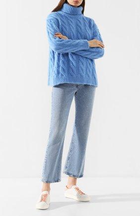 Женские кожаные кеды SANTONI белого цвета, арт. WBCE60517BARXLTDI42 | Фото 2