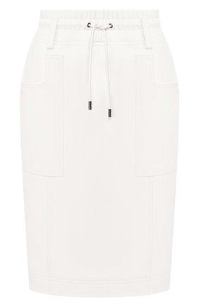 Женская кожаная юбка TOM FORD белого цвета, арт. GCL791-LEX228 | Фото 1