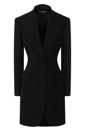 Женский шерстяной жакет DOLCE & GABBANA черного цвета, арт. F29FET/FUBAJ | Фото 1