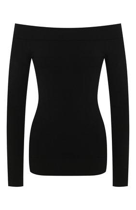Женская пуловер из вискозы DOLCE & GABBANA черного цвета, арт. FX661T/JAMS9 | Фото 1