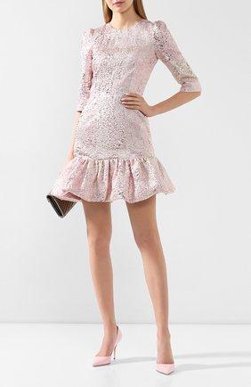 Женское платье DOLCE & GABBANA розового цвета, арт. F6H1DT/HJMJ0 | Фото 2