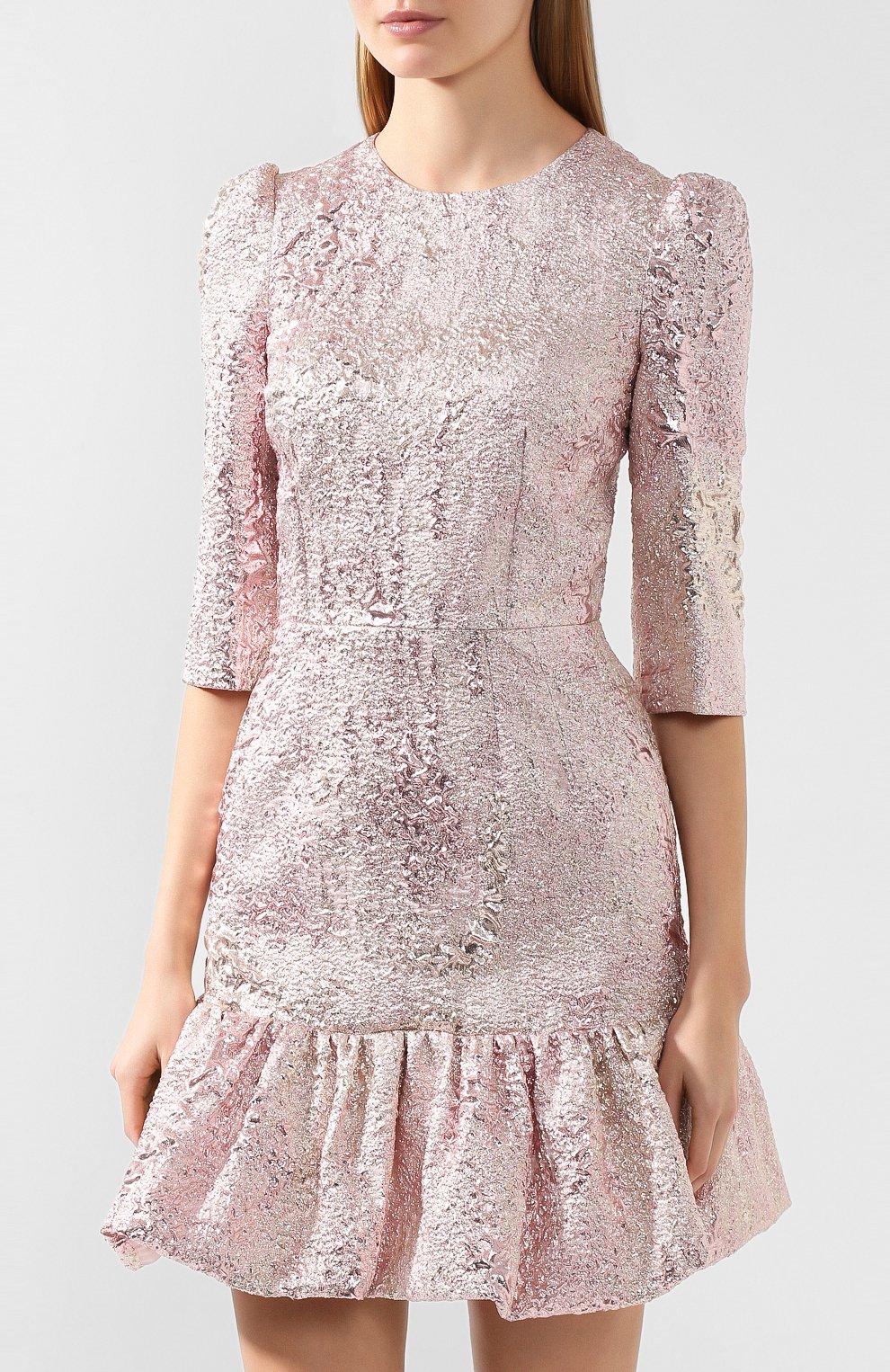 Женское платье DOLCE & GABBANA розового цвета, арт. F6H1DT/HJMJ0 | Фото 3
