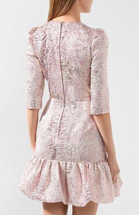 Женское платье DOLCE & GABBANA розового цвета, арт. F6H1DT/HJMJ0 | Фото 4
