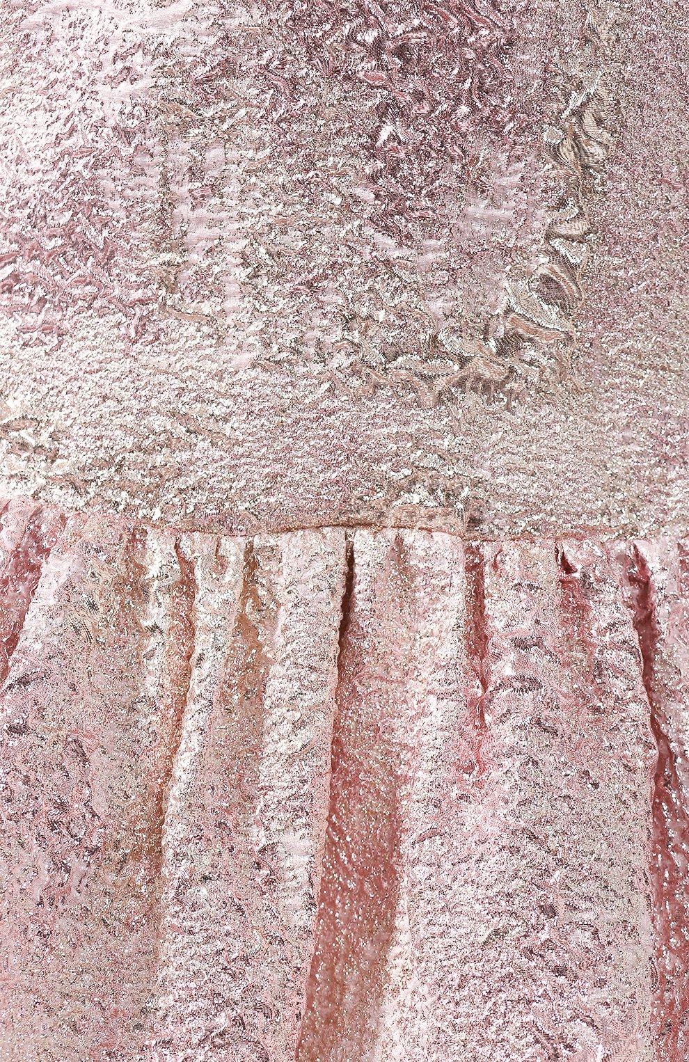 Женское платье DOLCE & GABBANA розового цвета, арт. F6H1DT/HJMJ0 | Фото 5