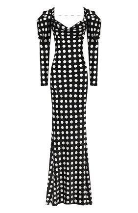 Женское шелковое платье GIUSEPPE DI MORABITO черно-белого цвета, арт. PS20039LD-63   Фото 1