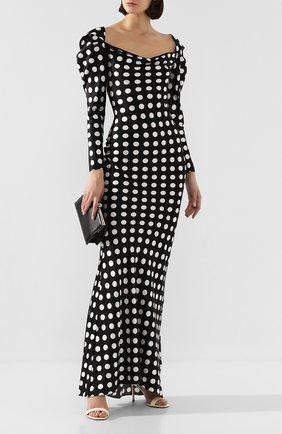 Женское шелковое платье GIUSEPPE DI MORABITO черно-белого цвета, арт. PS20039LD-63   Фото 2