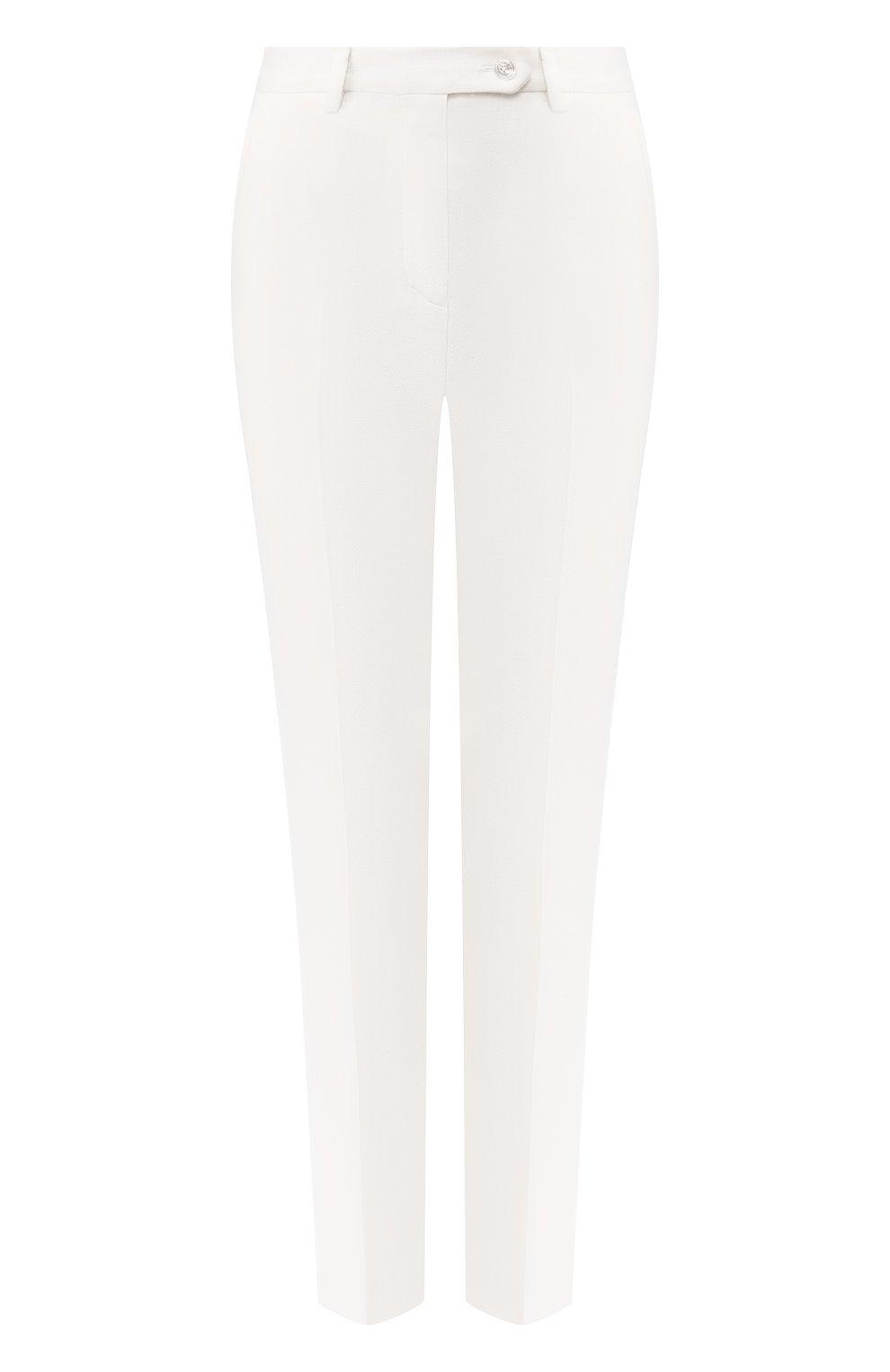Женские шерстяные брюки KITON белого цвета, арт. D48125K05P54 | Фото 1
