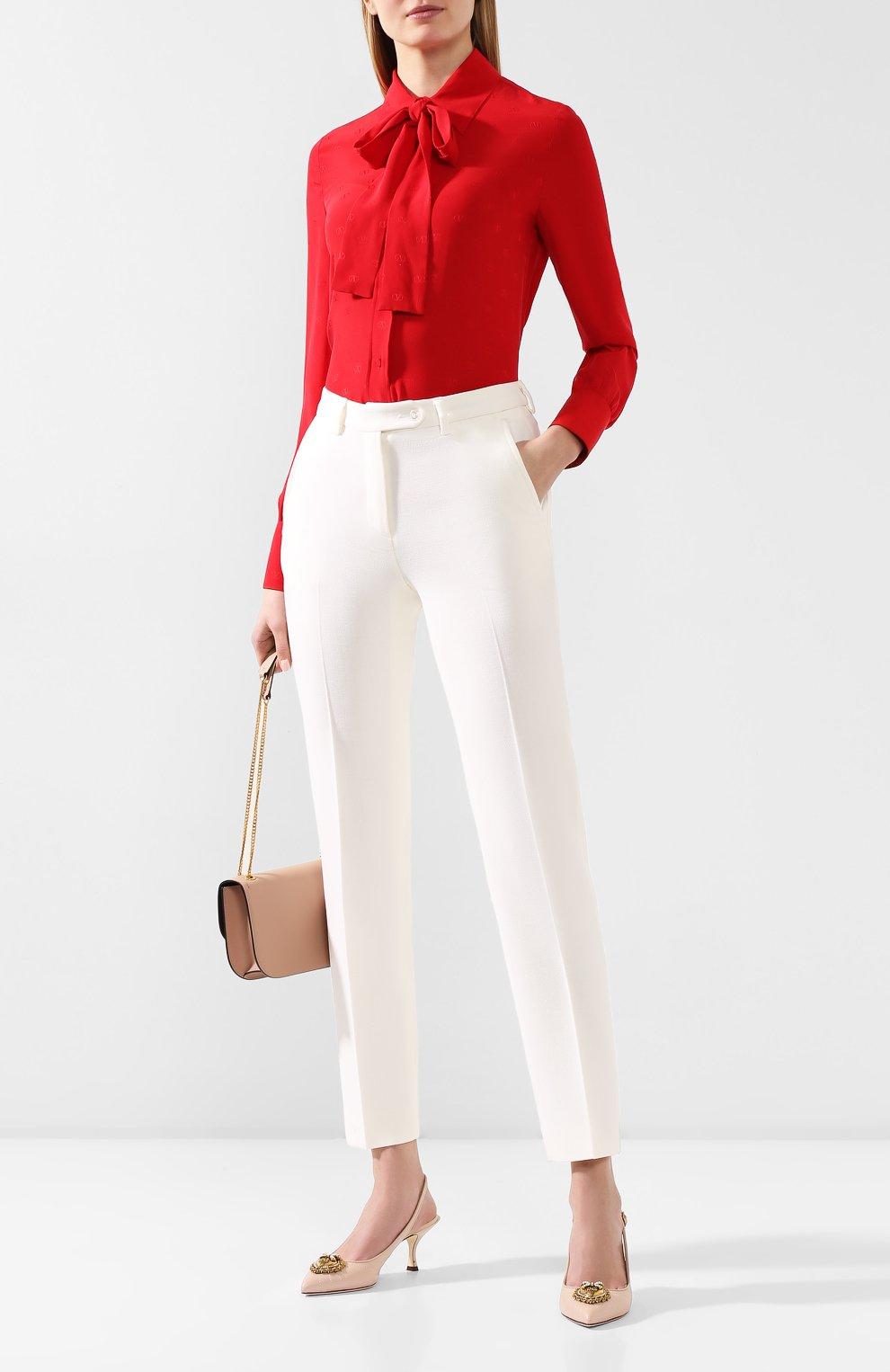 Женские шерстяные брюки KITON белого цвета, арт. D48125K05P54 | Фото 2