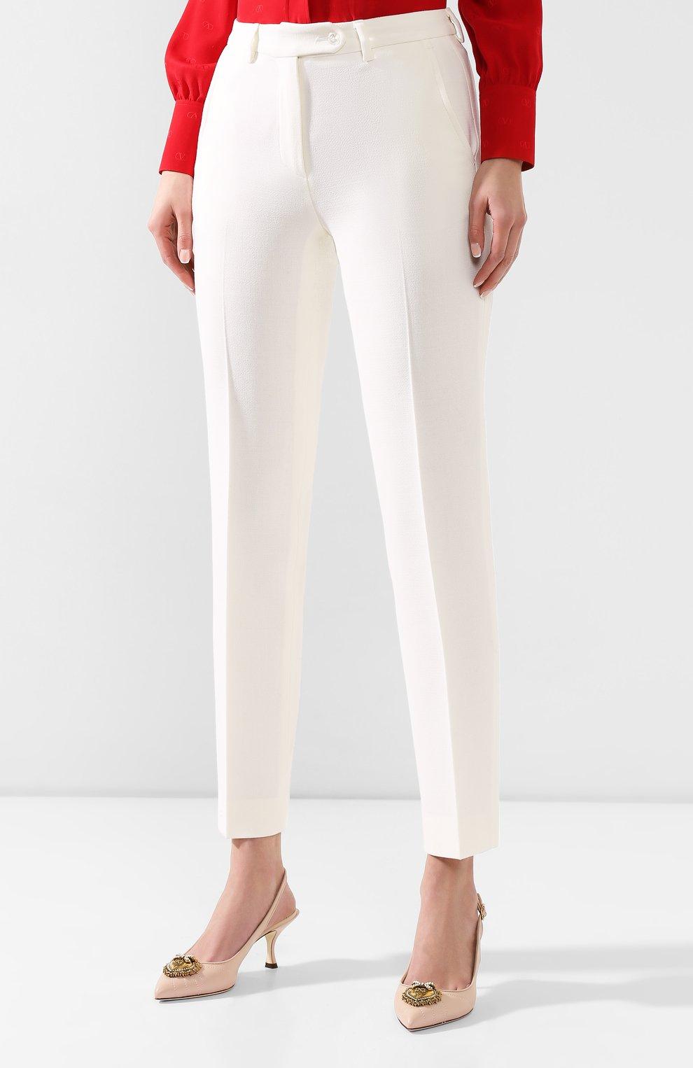 Женские шерстяные брюки KITON белого цвета, арт. D48125K05P54 | Фото 3