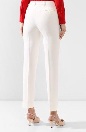 Женские шерстяные брюки KITON белого цвета, арт. D48125K05P54 | Фото 4
