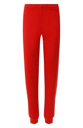 Женские хлопковые джоггеры MONROW красного цвета, арт. HB0477-2 | Фото 1