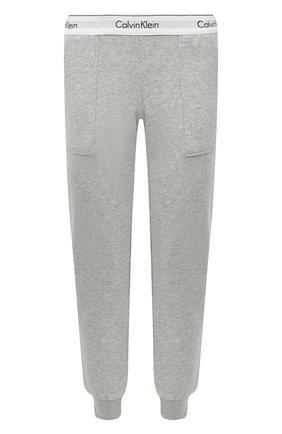 Женские хлопковые брюки CALVIN KLEIN серого цвета, арт. QS5716E | Фото 1