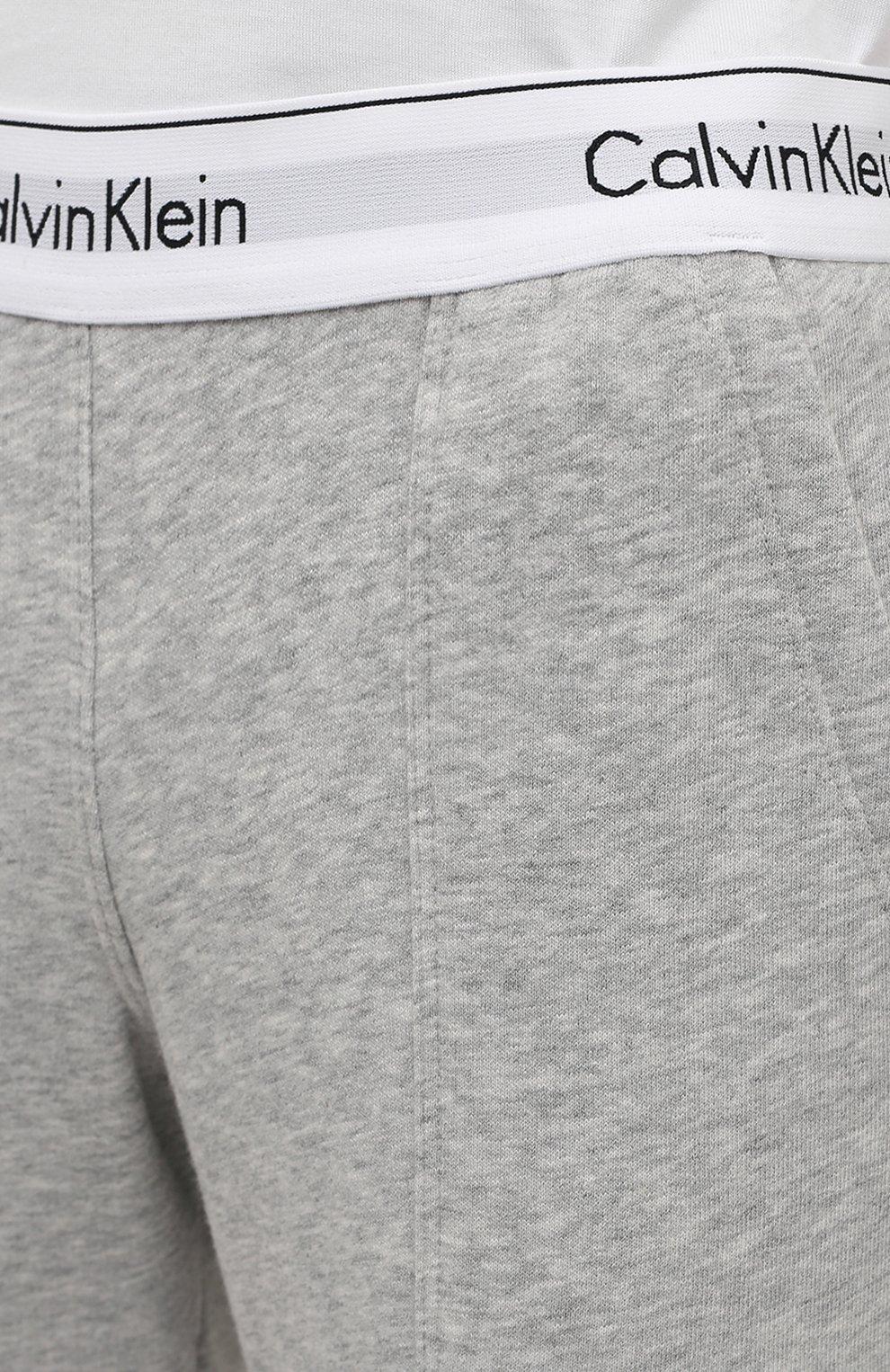 Женские хлопковые брюки CALVIN KLEIN серого цвета, арт. QS5716E   Фото 5