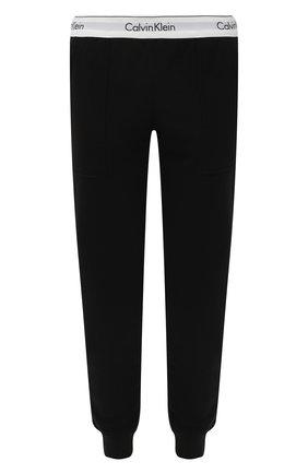 Женские хлопковые брюки CALVIN KLEIN черного цвета, арт. QS5716E | Фото 1