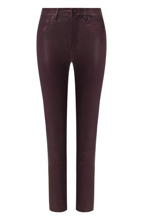 Женские кожаные брюки CITIZENS OF HUMANITY бордового цвета, арт. 1834 | Фото 1