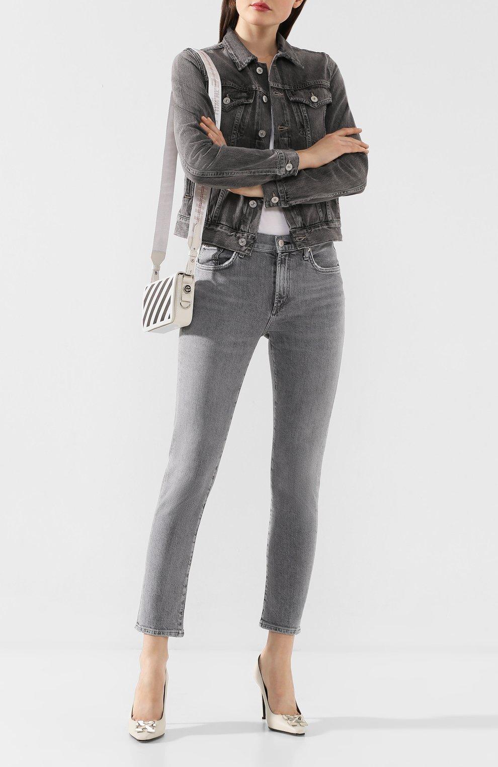 Женские джинсы AGOLDE серого цвета, арт. A133-1138 | Фото 2