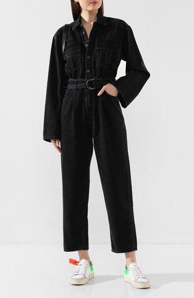Женский джинсовый комбинезон AGOLDE серого цвета, арт. A8002-1157 | Фото 2