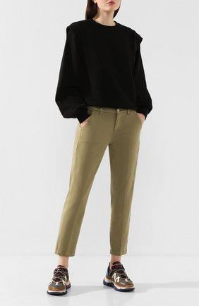 Женские брюки 7 FOR ALL MANKIND хаки цвета, арт. JSL4V600SG | Фото 2