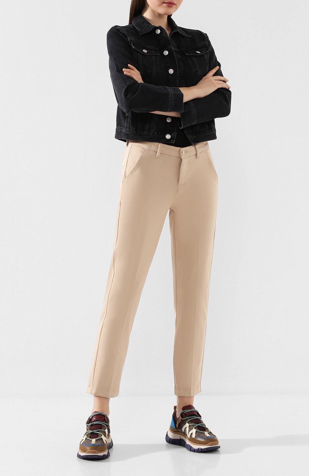Женские брюки 7 FOR ALL MANKIND бежевого цвета, арт. JSL4V600BG | Фото 2