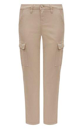 Женские брюки из смеси хлопка и вискозы 7 FOR ALL MANKIND бежевого цвета, арт. JSL3V950BG | Фото 1