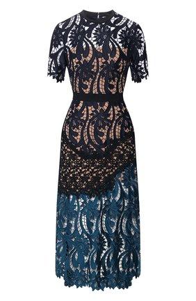 Женское платье-миди SELF-PORTRAIT разноцветного цвета, арт. SP11-050. | Фото 1