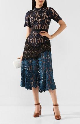 Женское платье-миди SELF-PORTRAIT разноцветного цвета, арт. SP11-050. | Фото 2