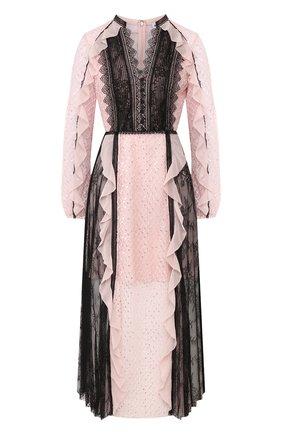 Женское платье-миди SELF-PORTRAIT разноцветного цвета, арт. RS20-152 | Фото 1