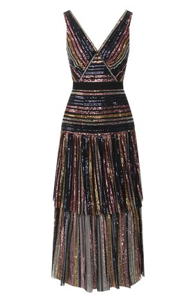 Женское платье с пайетками SELF-PORTRAIT разноцветного цвета, арт. RS20-016 | Фото 1