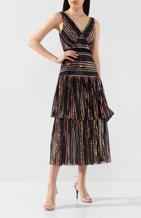Женское платье с пайетками SELF-PORTRAIT разноцветного цвета, арт. RS20-016 | Фото 2
