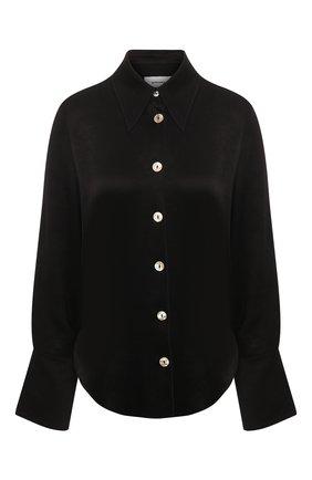 Женская рубашка NANUSHKA черного цвета, арт. MANDINE_BLACK_WASHED SATIN   Фото 1