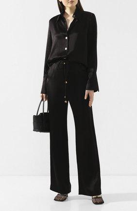 Женская рубашка NANUSHKA черного цвета, арт. MANDINE_BLACK_WASHED SATIN   Фото 2