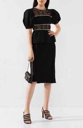 Женская юбка NANUSHKA черного цвета, арт. ZARINA_BLACK_WASHED SATIN   Фото 2