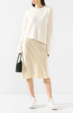 Женская юбка NANUSHKA бежевого цвета, арт. ZARINA_WAX YELL0W_WASHED SATIN   Фото 2