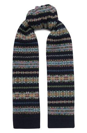 Детский шерстяной шарф POLO RALPH LAUREN темно-синего цвета, арт. 313751633 | Фото 1