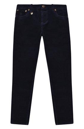 Детского вельветовые брюки POLO RALPH LAUREN темно-синего цвета, арт. 313750891 | Фото 1