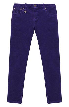 Детского вельветовые брюки POLO RALPH LAUREN фиолетового цвета, арт. 313750891 | Фото 1