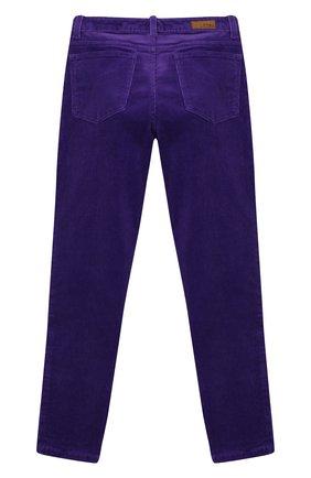 Детского вельветовые брюки POLO RALPH LAUREN фиолетового цвета, арт. 313750891 | Фото 2