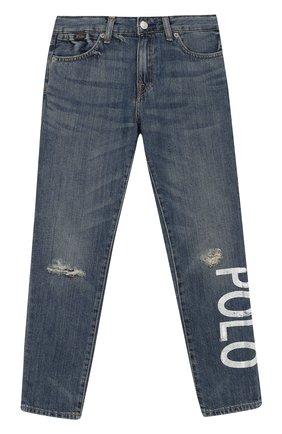 Детские джинсы POLO RALPH LAUREN синего цвета, арт. 313749601 | Фото 1