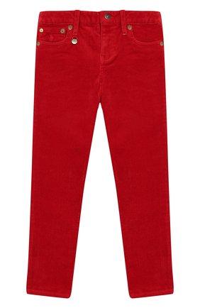 Детского вельветовые брюки POLO RALPH LAUREN красного цвета, арт. 312750891 | Фото 1