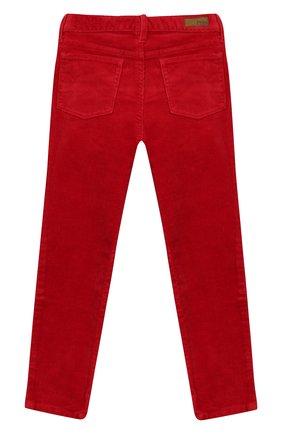 Детского вельветовые брюки POLO RALPH LAUREN красного цвета, арт. 312750891 | Фото 2