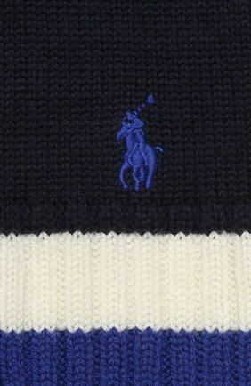 Детский шерстяной шарф POLO RALPH LAUREN темно-синего цвета, арт. 323751652 | Фото 2