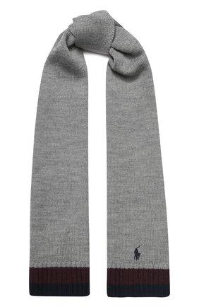 Детский шерстяной шарф POLO RALPH LAUREN серого цвета, арт. 323751652 | Фото 1